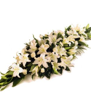 lilies,glassvase,vase,special,onlineflowerdelivery,wrap,lilywrap,gift,whitelily,casket