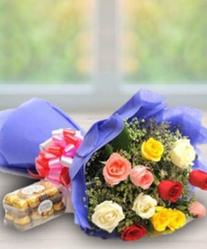 onlineflowerdelivery,gift,present,mixedroses,chocolates,red,pink,yellow,roses