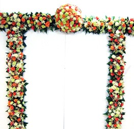 Weddingarch,flowers,wedding