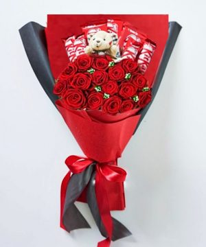 Valentine day flower delivery muscat